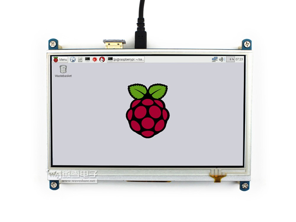 Raspberry Pi 3 B 7inch HDMI LCD 1024 * 600 Resistive Touch Screen LCD Display original 7 inch 163 97mm hd 1024 600 lcd for cube u25gt tablet pc lcd screen display panel glass free shipping