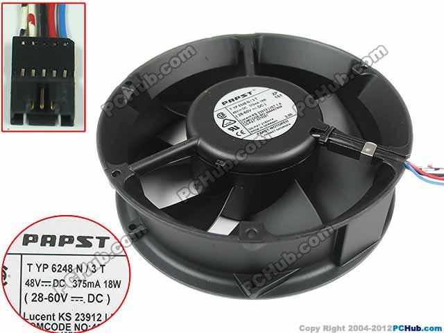 For papst TYP 6248 N3T DC 48V 18W, 172x172x50mm 5-wire, 5-pin Connector Server Round fan