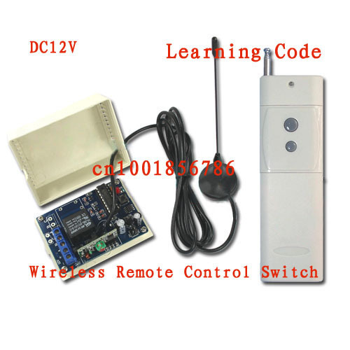 3000M DC12V 10A 1CH 315/433MHz RF Wireless Remote Control Power Switch Radio Controller Transmitter Receiver With Antenna3000M DC12V 10A 1CH 315/433MHz RF Wireless Remote Control Power Switch Radio Controller Transmitter Receiver With Antenna