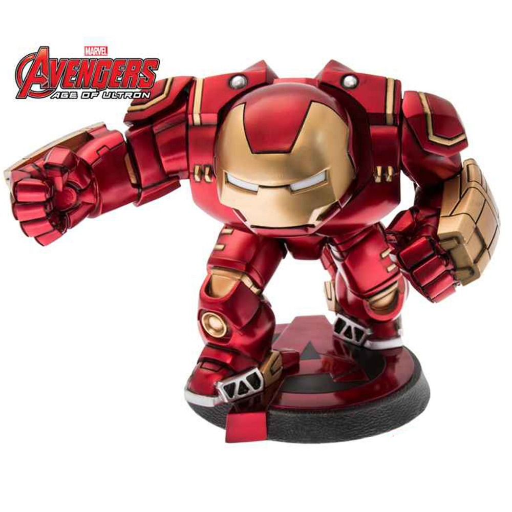 Movie Super Hero Tony Stark Hero buster Bobble Head PVC Action Figure Collectible Model Toy Super Hero DC012077  цена и фото
