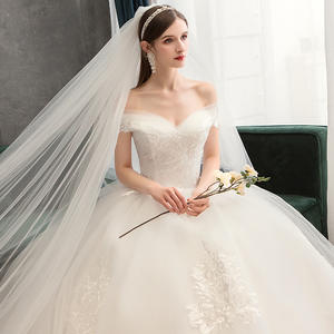 Ball-Gown Wedding-Dresses Flowers Boat-Neck Chapel-Train Sweetheart Sexy Lace Beaded