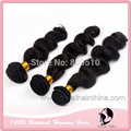 "Gift Meatl clip Natural Cabelo  14"" - 30"", Loose Wave, 100grams/ Piece, Natural Black Pelo Humano Hair Weaving, Free Shipping"