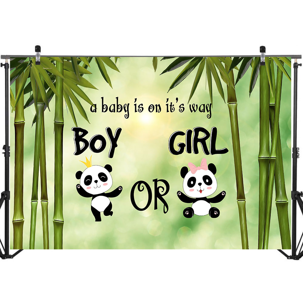 NeoBack Gender Reveal Backdrop Cute Panda Boy or Girl Baby Shower Photography Background Baby Shower Banner Decorations Supplies in Background from Consumer Electronics