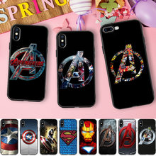 Marvel Avengers Case For iphone 7 Case Iron Man Captain America Silicone Cover Phone Cases For iphone 6 6S 5 5S 6/7/8 PLus 8 X