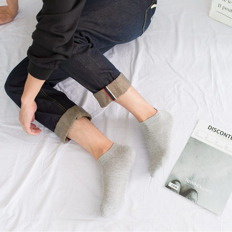 1 pair of unisex low-cut socks soft socks breathable casual men's solid color ladies simple cotton socks new