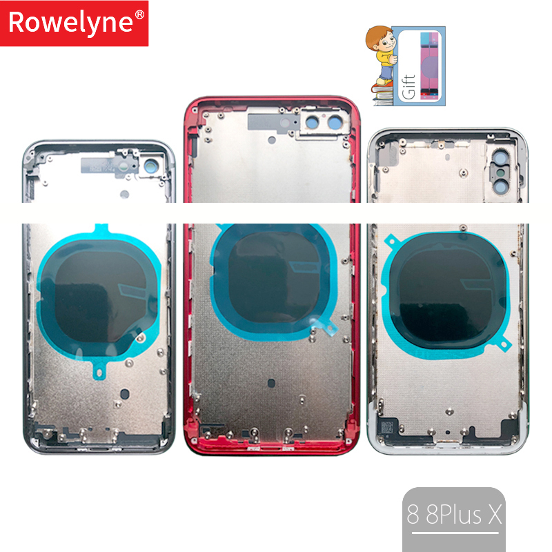 New 8G X Cover For iphone 8 8 Plus 8P ix X Back Housing Battery Door Cover Middle Chassis Frame Case with Glass + Tray AssemblyNew 8G X Cover For iphone 8 8 Plus 8P ix X Back Housing Battery Door Cover Middle Chassis Frame Case with Glass + Tray Assembly