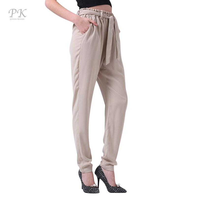 PK capris calf length pants 2017 summer white pencil pants ...