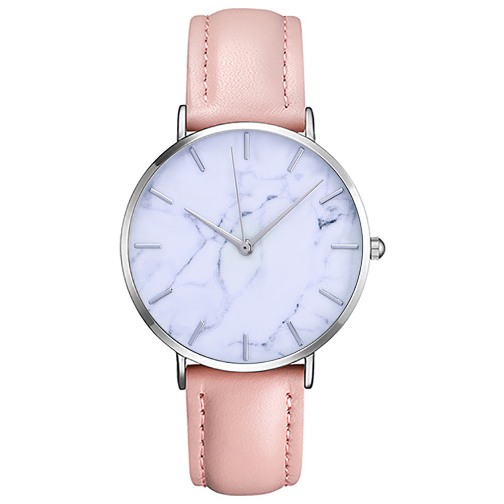Top Brand Marble Style Leather Quartz Women Watch Fashion Men Watches Casual Sport Wrist Watch Hot Sale Lovers Relojes 2018 2# 2017 new couple watches lovers guanqin brand quartz watch women round leather fashion casual men wristwatches female sport watch
