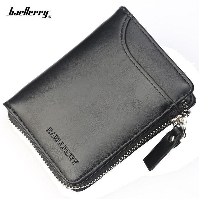 9214647e7a64bc 2018 New Men Wallet fashion Leather Card Holder Brand Small Vintage Zipper  man Wallet designer's Luxury