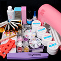 Professional False Nail Art Tips Gel Deco Tools Kit 9W UV Dryer Lamp Tube Nail Art tool Set Ship From China
