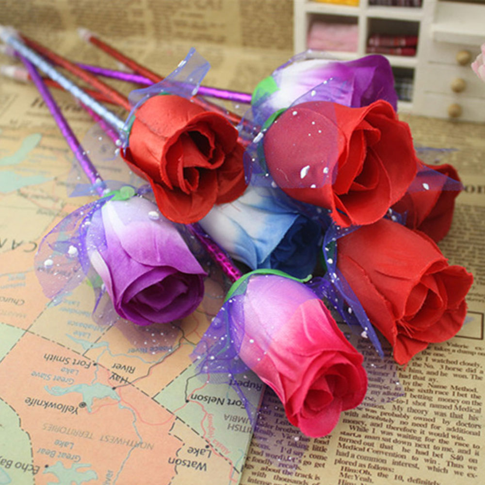 Cobee Rose Ballpoint Pen Creative Rose Flower 0.7mm Random Color ...