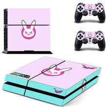 Overwatch DVA Decal Skin Sticker For Sony Playstation 4 PS4 Console +2Pcs Controller Film Stickers