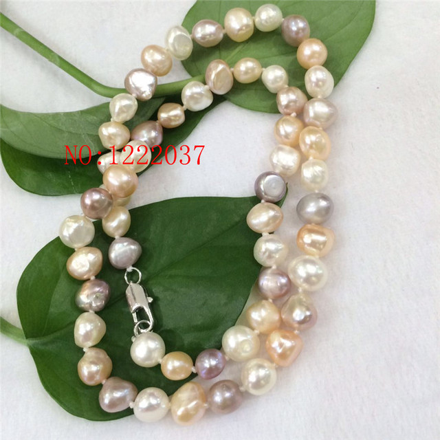 purple white pink item irregular natural baroque multicolor necklaces pearls freshwater shaped