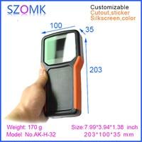 1 Pcs Hot Selling Szomk Abs Plastic Handheld Junction Housing 203 100 35mm Electronics Enclosures For