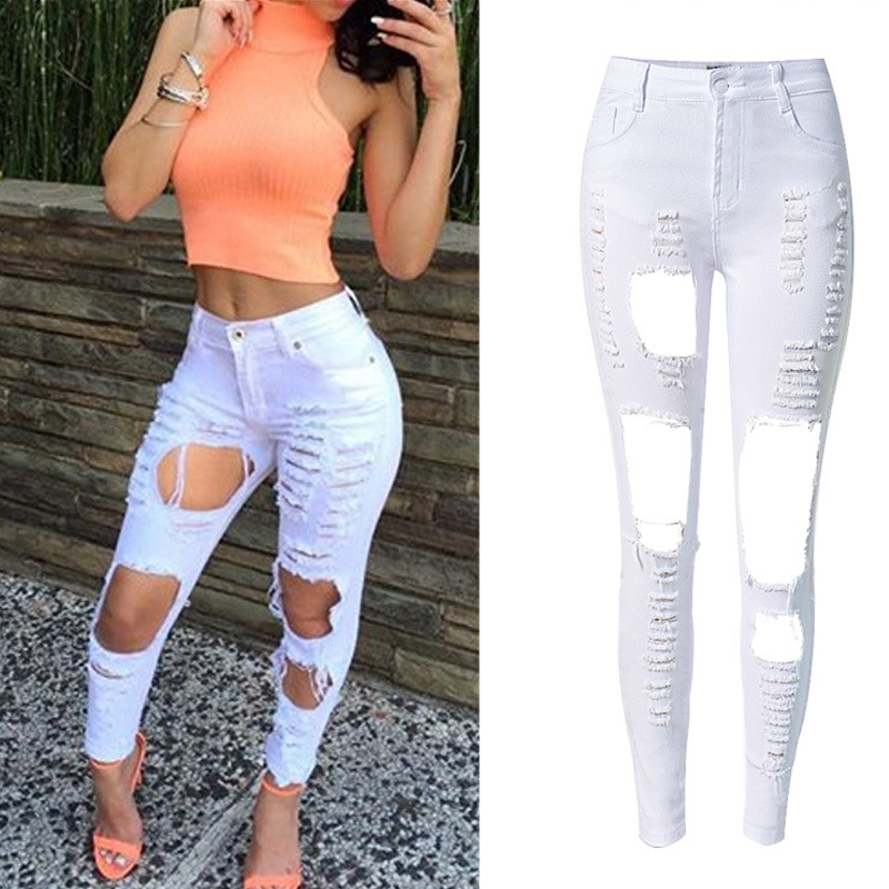 Online Buy Wholesale bleached ripped jeans from China bleached