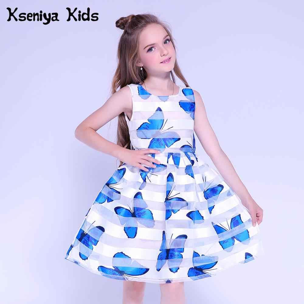 11b35800f98 Ксения Детские платья для свадьбы принтом летнее платье милые дети  Выпускной платья Платье для маленьких девочек