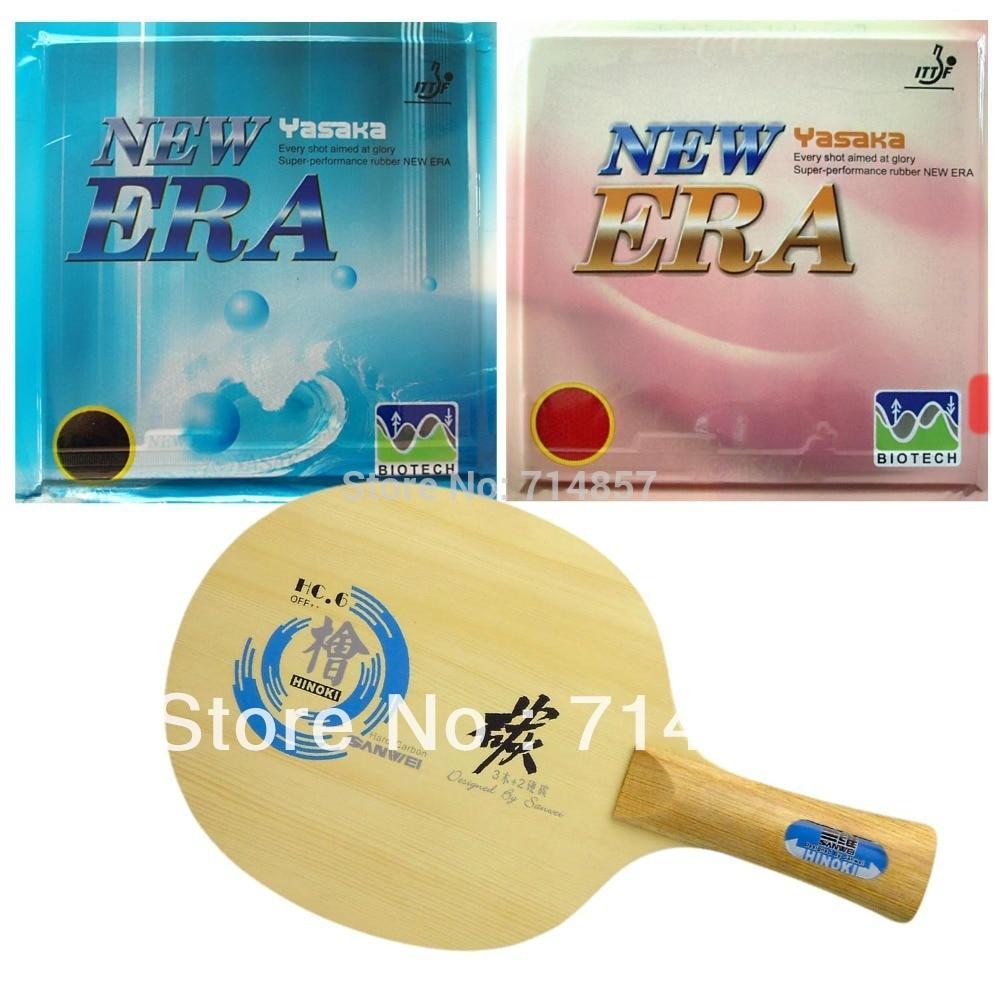Sanwei HC.6 Table Tennis Blade Yasaka ERA 40mm Biotech 39-41 +42-44 degree NO ITTF Rubber Shakehand Long Handle FL era ed 6 штатив
