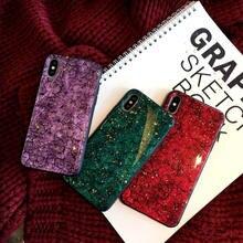 Glitter Glossy Bling Marble Gold Foil Case For Samsung Galaxy S10 Plus J2 J5 J7 Prime J3 Pro 2017 J4 J6 M10 M20 Back cover