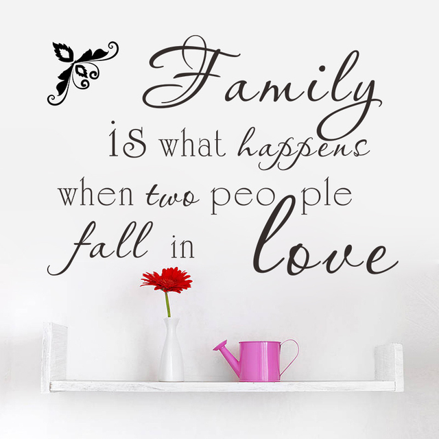 Family Is What Happens When Two People Fall In Love Quotes Wall Arts