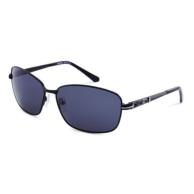 2013 New VANCL Men Sunglasses Harry Classic Sunglasses Dark Tinted lenses Slim Arms Curved Temple Tips Gun Gray  FREE SHIPPING