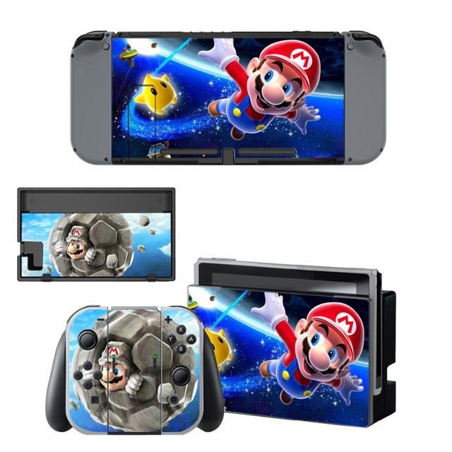 Nintend Switch Vinyl Skins Sticker For Nintendo Switch Console and Controller Skin Set - For Super Mario 5