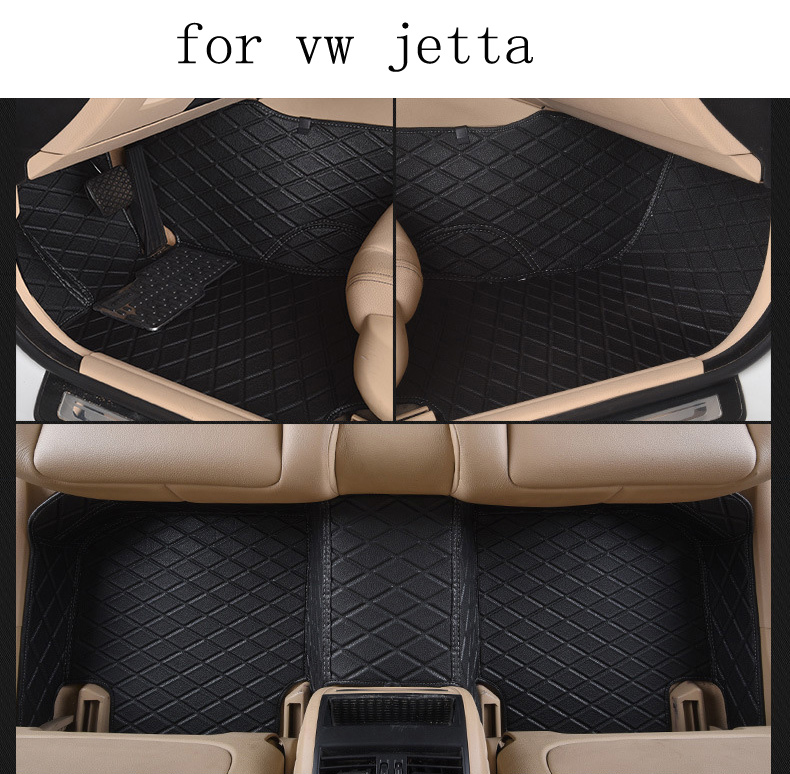 for VW Volkswagen Jetta brand leather Wear-resisting Car floor mats black grey brown Non-slip waterproof 3D car floor Carpets for peugeot 307 brand pu leather wear resisting car floor mats black grey brown coffee non slip waterproof 3d car floor carpets