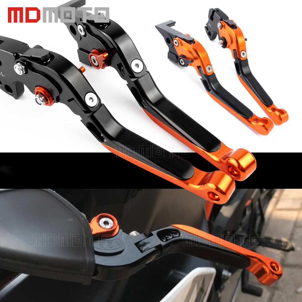 motorcycle lever for KTM DUKE 125 200 390 rc390 RC 390 2013-2017 adjustable Foldable brake clutch levers motorbike accessories for ktm logo 125 200 390 690 duke rc 200 390 motorcycle accessories cnc engine oil filter cover cap
