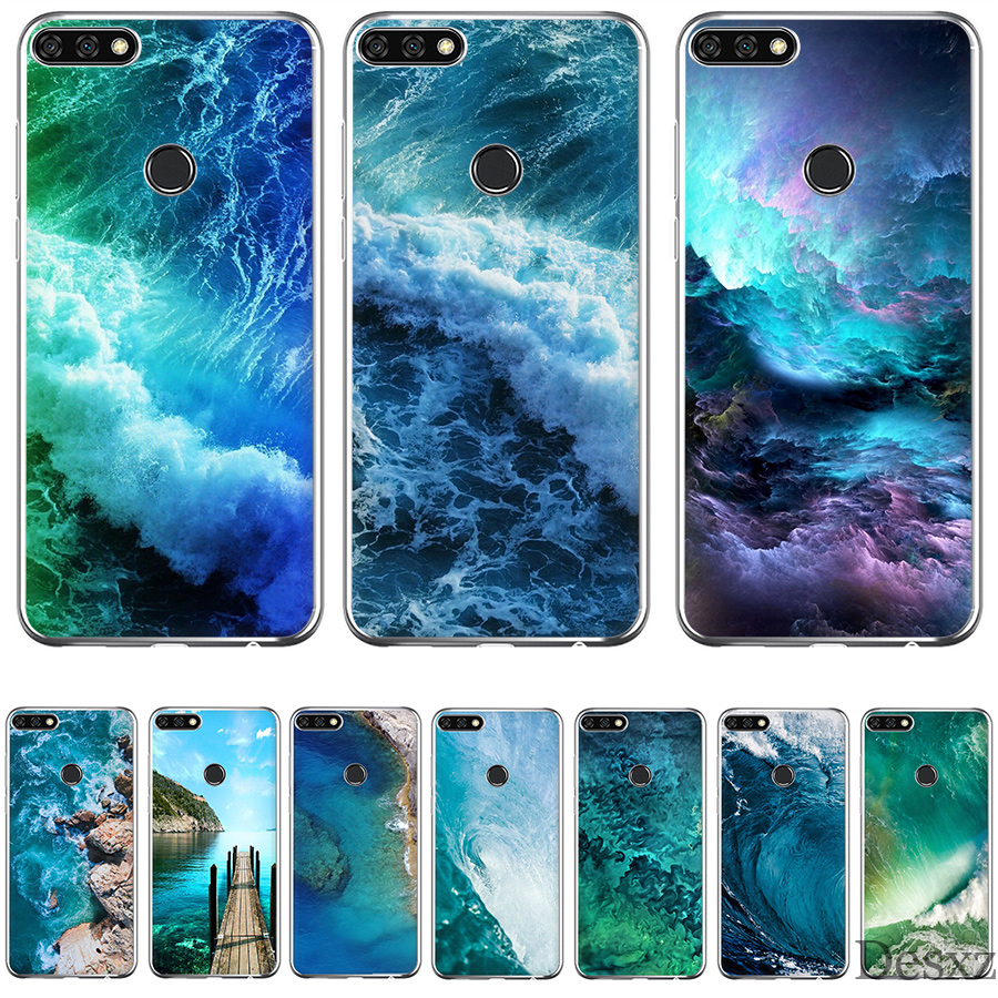 Phone Case Cover Ocean Iphone Wallpaper For Honor Note 6a 7X 7C 7A 9 10 Lite Pro 2GB 3GB 8X Cases image