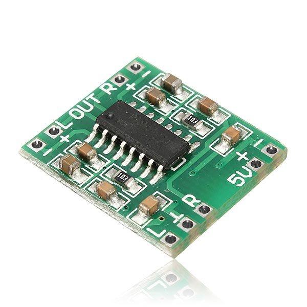 20pcs/lot Mini Digital Power Amplifier Board 2*3W Class D Audio Module USB DC 5V PAM8403