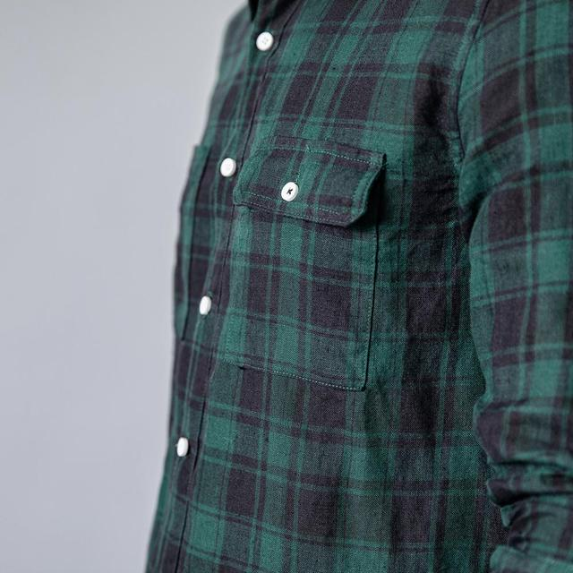 Men's Plaid Shirts Linen Fashion Casual Breathable Cool
