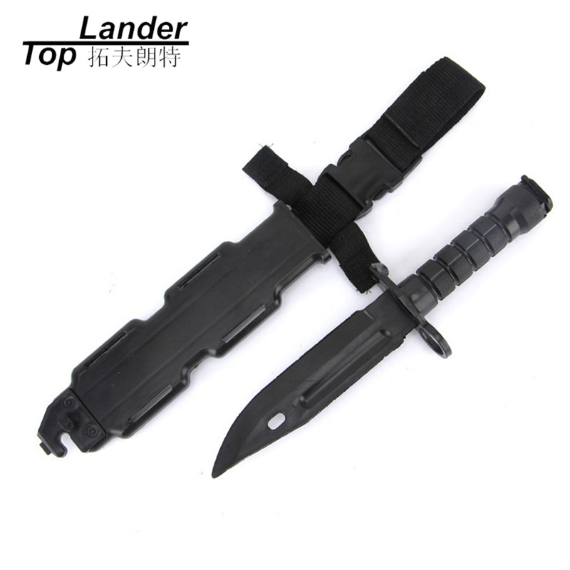 Toy Rubber Knife Tactical Training Knives Ourdoor Cs War Games Dagger Plastics Knife Dagger Military Enthusiasts Fake Knife