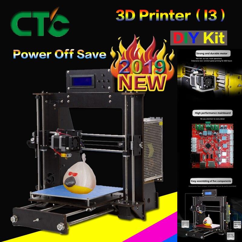CTC 3D imprimante cadre haute précision Impressora bricolage i3 Upgradest haute précision Reprap Prusa 3d Drucker