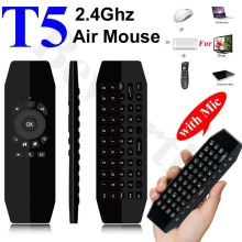 T5 Sans Fil Mini Clavier Fly Air Mouse avec Micro Smart Télécommande pour Android TV Box A95X X96 HTPC IPTV Mini PC Xbox Gamepad