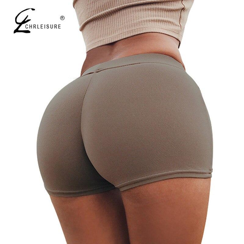 CHRLEISURE Bonbonfarben Shorts Frauen Sexy Push Up Baumwolle Kurze Feminino Workout Shorts Feminino SL 11 Farben