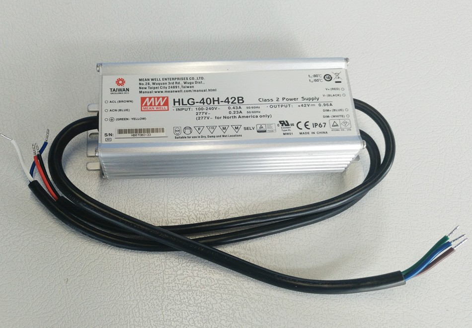 Original MEAN WELL 60W Single Output IP67 Constant Current /Voltage LED Driver Switching Power Supply With PFC HLG-60H original mean well 60w single output ip67 constant current led driver switching power supply with pfc clg 60