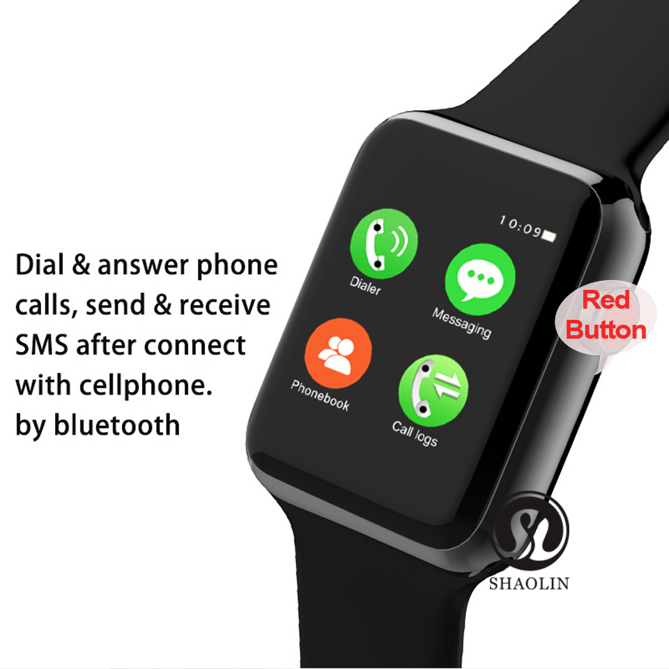SHAOLIN Bluetooth Smart Watch Heart Rate Monitor Smartwatch Wearable Devices for iPhone IOS and Android Smartphones apple watch-7