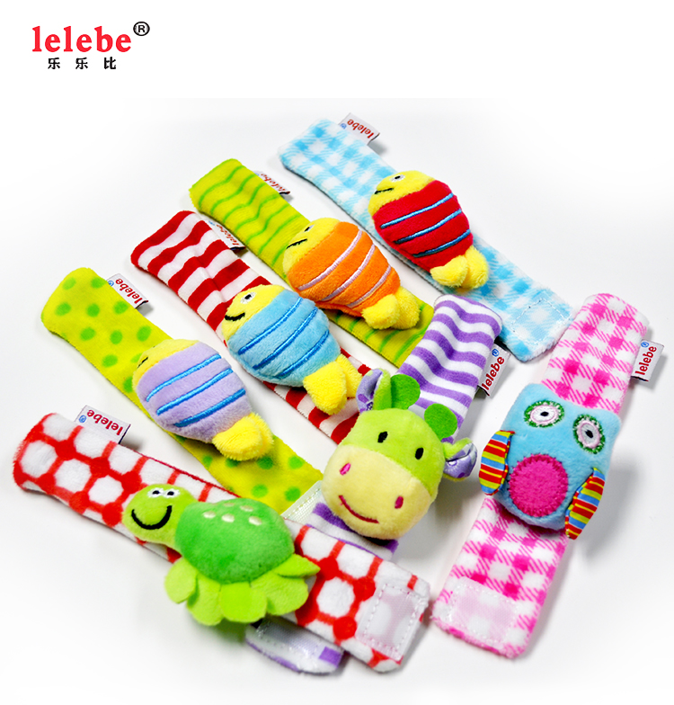 Mini Plush Zebra Children's Wrist Band Toys
