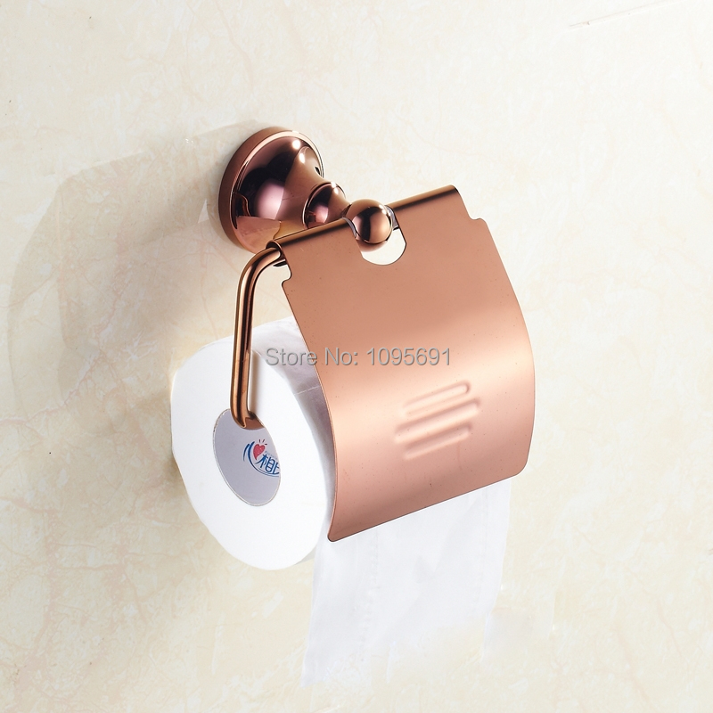 Free Shipping Bathroom Accessories Products Solid Brass Rose Gold Toilet  Paper Holder Roll Holder. Popular Solid Gold Toilet Buy Cheap Solid Gold Toilet lots from