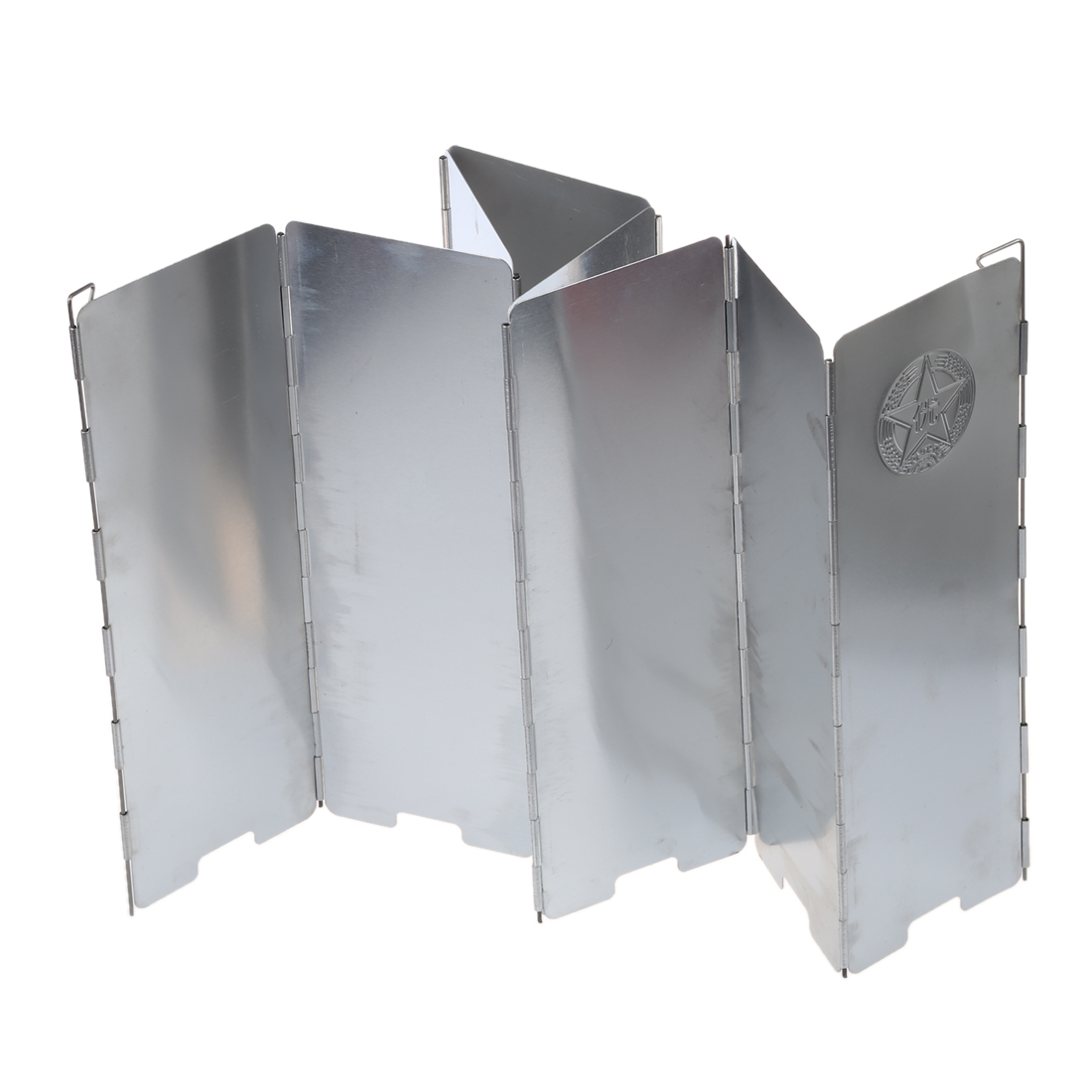 Wholesale! 8-Plate Aluminum Alloy Camping Cooker Stove Foldable Wind Shield Screen