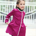 teenage girls clothing kids autumn coat fashion for 7-12 years baby girls outerwear and jackets medium long child red tops