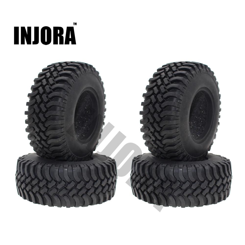 4 piezas 100mm 1,9 pulgadas rueda de goma neumáticos para 1:10 RC Rock Crawler Car Axial SCX10 D90 D110 tamiya CC01 1,9 pulgadas neumáticos