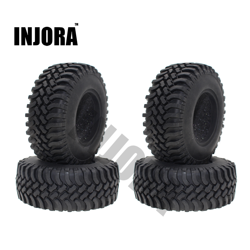 4PCS 100MM 1.9 Inch Rubber Wheel Tires for 1:10 RC Rock Crawler Car Axial Axial SCX10 RC4WD D90 D110 Tamiya CC01 1.9 Inch Tyres 4pcs 1 9 rubber tires