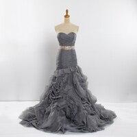 Yewen Кристалл Винтаж русалки Vestidos De Novia 2018 торжественные платья халат де mariée свадебные платья невесты платье