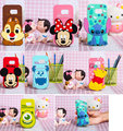 Newest Cute 3D Cartoon Mickey Minnie Stitch Case For Samsung Galaxy S7 big Head cartoon Mickey Mouse Silicone Back Covers