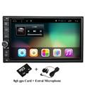 "7 ""2Din 1024*600 Android 6.0 Toque Tablet PC Do Carro 2 din Universal para Nissan Navegação GPS BT Radio Stereo Audio Player (Sem DVD)"