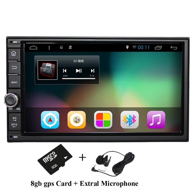 """Prix pour 7 """"2Din 1024*600 Android 6.0 Voiture Du Robinet PC Tablet 2 din Universel pour Nissan GPS Navigation BT Radio Stéréo Audio Lecteur (No DVD)"""