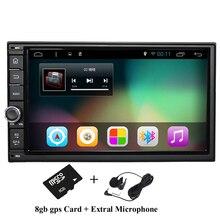 """7 """"2Din 1024*600 Android 4.4 Del Coche Toque Tablet PC 2 din Universal para Nissan Navegación GPS BT de Radio Estéreo Reproductor de Audio (Sin DVD)"""