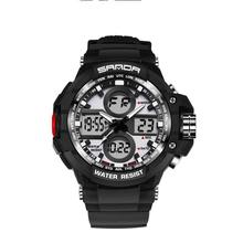 Men Sports Watches Fashion Casual Men's Watch Digital Analog Alarm Color Backlights Sport Military Watch Waterproof Clock 7+