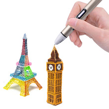 4 Color 3D Printing Pen With Free Filament 3D pen Best Gift For Kids Printer Pens