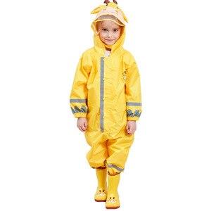 Image 5 - Kids Waterproof Rain Pants New 2020 Waterproof Overalls 3 8Yrs Baby Boys Girls Jumpsuit Fashion Children Raincoat Clj016